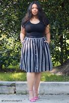 Forever 21 Plus Size Stripe Skirt