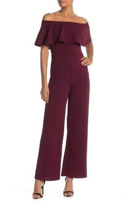 Onyx Nite Scuba Off the Shoulder Jumpsuit