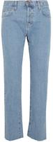 Current/Elliott The Original Straight High-rise Jeans - Mid denim
