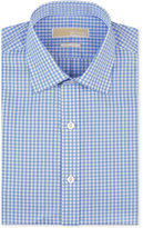 MICHAEL Michael Kors Men's Classic/Regular Fit Non-Iron Blue Check Dress Shirt