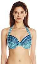 Kenneth Cole Reaction Women's Scarfs On Deck D-Cup Bikini Top