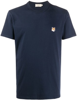 MAISON KITSUNÉ logo-patch T-shirt