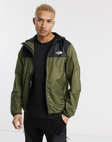 The North Face Cyclone 2 hoodie jacket in black/green