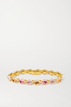 Larkspur & Hawk Caterina 18-karat Gold-dipped Quartz Bracelet - one size