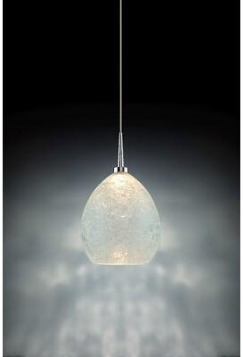 Bruck Lighting Vibe 1 - Light Single Dome LED Pendant Color: Chrome, Shade Color: Glacier