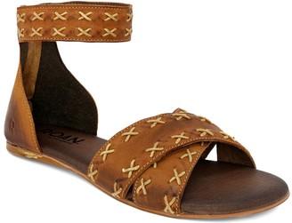 ROAN Rear Zip Leather Sandals - Kel
