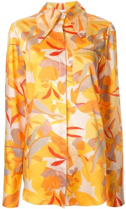 Acler Haslam abstract print blouse