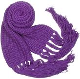 Basile Cable Knit Fringed Long Scarf