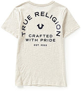 True Religion Big Boys 8-20 Short Sleeve Branded Logo Tee