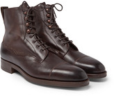 Edward Green Galway Cap-toe Full-grain Leather Boots - Brown