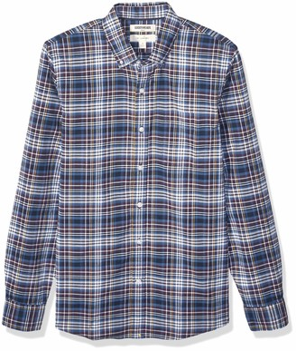 Goodthreads Slim-fit Long-sleeve Plaid Oxford Shirt Button