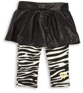 Juicy Couture Girl's Two-Piece Onesie & Skirt Overlay Leggings