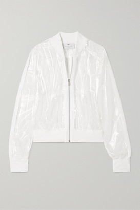 Heroine Sport - Illusion Ribbed Knit-trimmed Vinyl Jacket - White