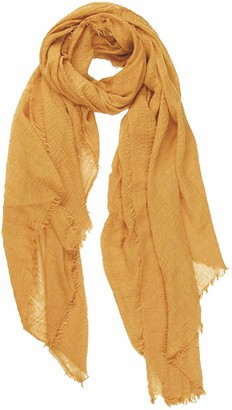 World of Shawls Ladies Distressed Crinkle Scarf Maxi Wrap Large Warm Soft (Ivory)