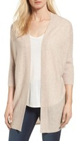 Women's Halogen Three-Quarter Sleeve Cashmere Cardigan