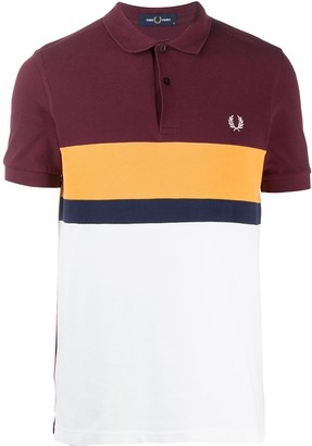 Fred Perry Cotton-Block Embroidered Logo Polo Shirt