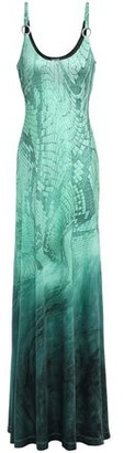 Just Cavalli Degrade Snake-print Stretch-jersey Gown