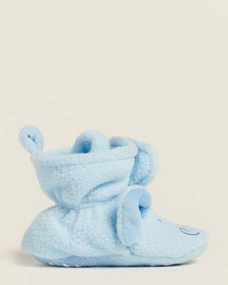 Hudson Baby Newborn/Infant Boys) Blue Elephant Fleece Slippers