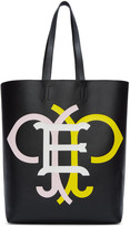 Emilio Pucci Black & Multicolor Leather Logo Tote