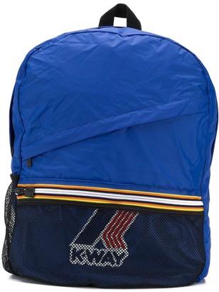 K Way Kids Logo Print Backpack