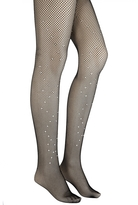 Quiz Black Diamante Fishnet Tights