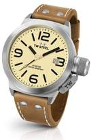 TW Steel Men's Canteen Leather Strap Watch, 45Mm