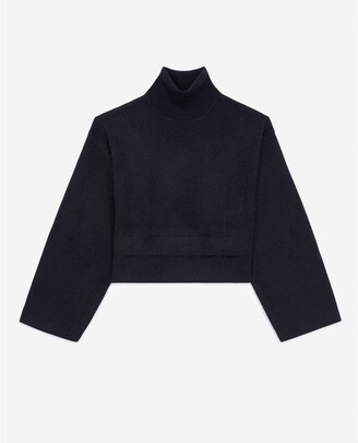 The Kooples Blue cashmere and wool sweater w/turtleneck