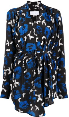Christian Wijnants Abstract Print Wrap Top