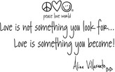 "Peace Love World 24"" Love Quote Wall Word"