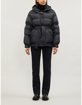 Perfect Moment Belted shell-down parka ski jacket