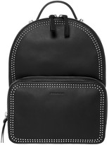 Mackage Brook Dual Leather Backpack In Black/Shiny Nickel