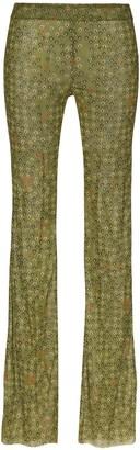 Supriya Lele Floral Print Mesh Trousers