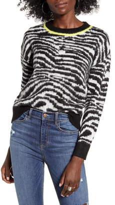 Love by Design Zebra Stripe Sweater
