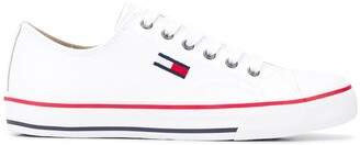 Tommy Jeans Flag Logo Lace-Up Sneakers