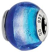 Murano Prerogatives Dark/Light Blue Italian Glass Bead