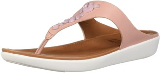 FitFlop Women's Banda Leather Toe-Thong Sandals - Crystal Slide