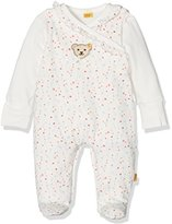 Steiff Baby Girls' 2tlg. Set Stampler o. Arm + T-Shirt Footies,6-9 Months