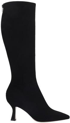 Fabio Rusconi High Heels Boots In Black Suede