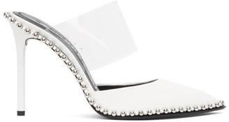 Alexander Wang White Patent Rina Heels