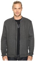 John Varvatos Quilted Long Sleeve Zip-Front Knit Jacket w/ Baseball Collar and Rib Details K2801S3L