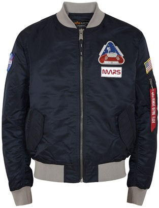 Alpha Industries MA-1 Mission To Mars navy shell bomber jacket