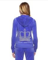 Juicy Couture Logo Velour Crystal Crown Original Jacket