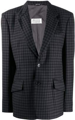 Maison Margiela checked oversized blazer