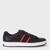 Men's Black Leather 'Lawn' Trainers