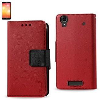 Reiko Zte Max 3-in-1 Wallet Case In Red