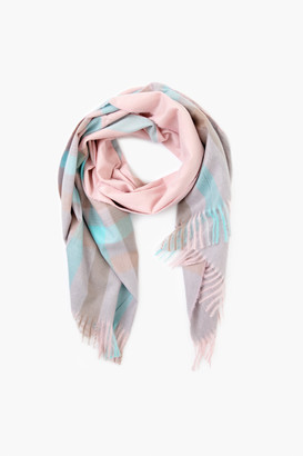 Pomander Place Pink Plaid Scarf