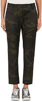 6397 Women's Camouflage Satin Crop Trousers