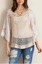 Entro Solid Crochet Top