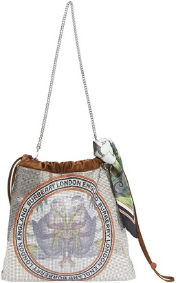 Burberry Monkey-Print Metal-Mesh Mini Bag