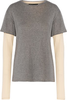 Nlst Layered cotton and cashmere-blend T-shirt